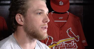 Harrison Bader of the St. Louis Cardinals does an interview with KMOX.