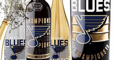 Here's where you can get a Blues 'Championship Reserve' bottle of champagne, wine