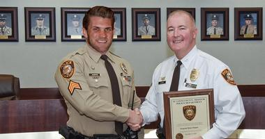 Photoshop from St. Louis County Police with Bryce Harper.