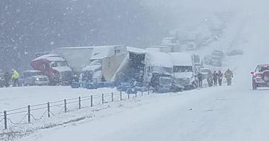 Massive accident on interstate 70 near Concordia Missouri