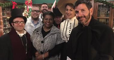 Part of the cast of 2017 Holiday Radio Show on KMOX.