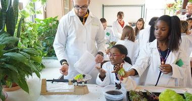 Students at a Greenhouse Venture after-school science class. Photo courtesy of Greenhouse Venture.