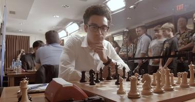 Fabiano Caruana competes at the Saint Louis Chess Club.