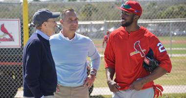 Dexter Fowler Chats with Bill DeWitt Jr and John Mozeliak