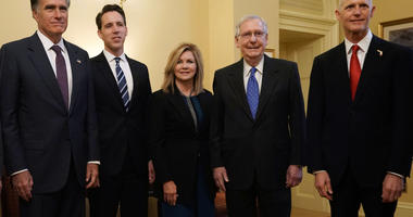 Josh Hawley with other new Senators