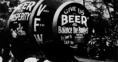 Prohibition beer barrel