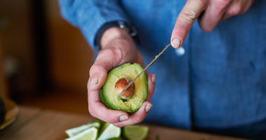 avocado cutting