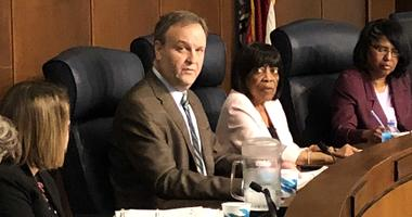 St. Louis County Executive Sam Page (center)