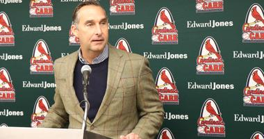 President of baseball operations John Mozeliak speaks at Cardinals Winter Warm-Up.