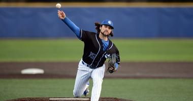 SLU pitcher Miller Hogan.