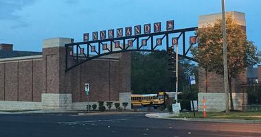 Outside Normandy High School in St. Louis.