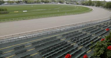 Monmouth Park racetrack is seen in Oceanport, N.J., Monday, May 14, 2018.