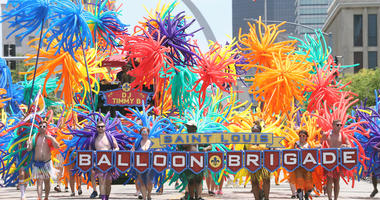 Grand Pride Parade in downtown St. Louis on June 30, 2019