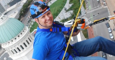 53 people who rappelled in St. Louis to raise more than $85,000 for Special Olympics Missouri in 2017!