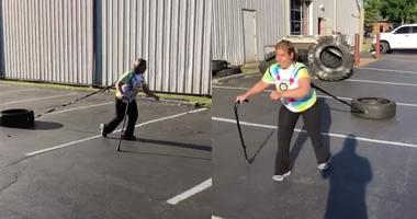 Tiffany Eickhoff works out at CrossFit 314 gym in St. Louis.