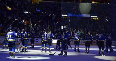 St. Louis Blues salute their fans