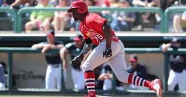 St. Louis Cardinals left fielder Adolis Garcia