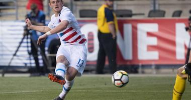 United States forward Josh Sargent (13) scores a goal past Bolivia