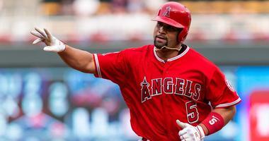 Los Angeles Angels designated hitter Albert Pujols.