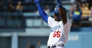 Los Angeles Dodgers right fielder Yasiel Puig