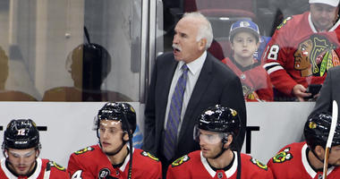 Chicago Blackhawks' head coach Joel Quenneville