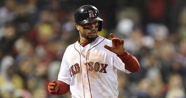 Boston Red Sox outfielder Mookie Betts