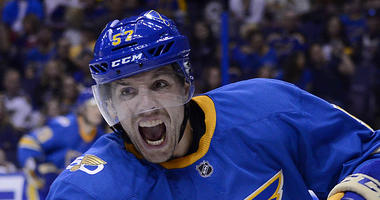 St. Louis Blues left wing David Perron