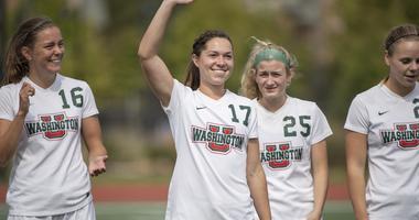 Washington University Women's Soccer captain Darcy Cunningham