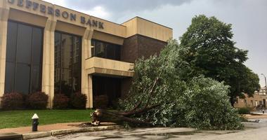 Storm Damage at Market & 18th in St. Louis