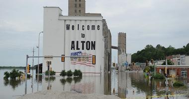 Alton, Illinois flooding