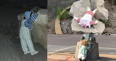 Terrifying pics: Creepy dolls mysteriously invade Festus