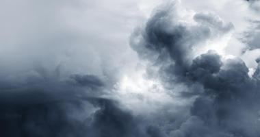 Storm clouds sky. Copy space top left