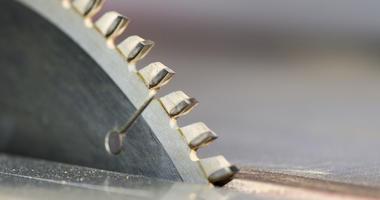 Detail of a circular saw blade