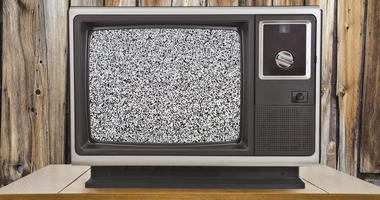 Old TV with static television