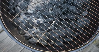 Close up of charcoal grill