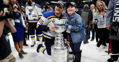 Laila Anderson and Stanley Cup