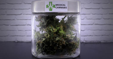 medical marijuana in a jar