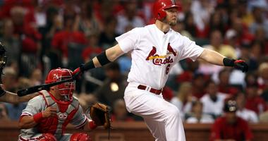 Cardinals first baseman Chris Duncan singled