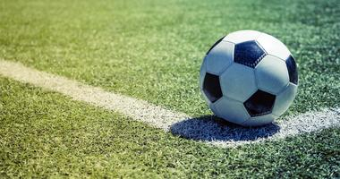 Stock image of a soccer ball.