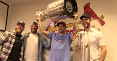 Cardinals get to congratulate Stanley Cup Champion Blues