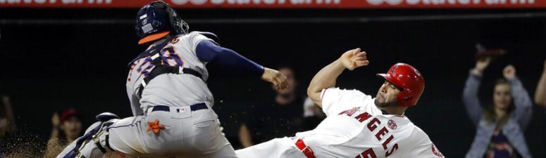 Pujols' 3 hits, 3 RBIs power streaking Halos past Astros 9-6
