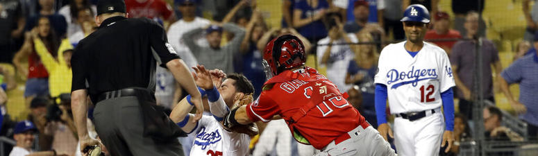 Calhoun gets Bellinger to end Angels' 5-4 win over Dodgers