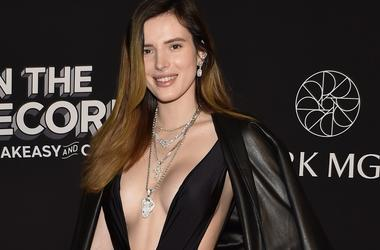 Actress Bella Thorne arrives at the grand opening celebration at On The Record Speakeasy and Club at Park MGM on January 19, 2019 in Las Vegas, Nevada.