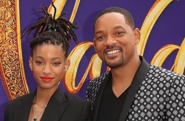 """Trey Smith, Jada Pinkett Smith, Willow Smith and Will Smith attend the World Premiere of Disney's """"Aladdin"""" at the El Capitan Theater in Hollywood CA on May 21, 2019, in the culmination of the film's Magic Carpet World Tour with stops in Paris, London, Be"""