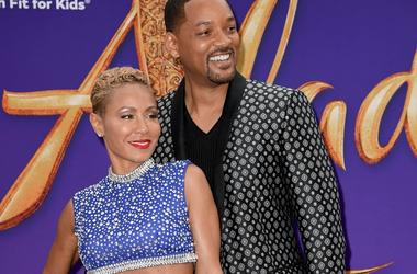 """Jada Pinkett Smith and Will Smith attend the premiere of Disney's """"Aladdin"""" at El Capitan Theatre on May 21, 2019 in Los Angeles, California."""