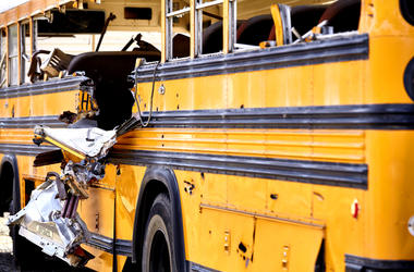 School Bus accident damage EMS Fire response