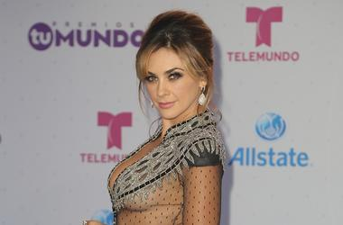 "Aracely Arambula arrives at Telemundo's Premios Tu Mundo ""Your World"" Awards at American Airlines Arena on August 25, 2016 in Miami, Florida"