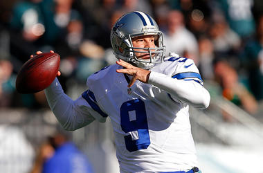 Quarterback Tony Romo #9 of the Dallas Cowboys attempts a pass against the Philadelphia Eagles during the second quarter of a game at Lincoln Financial Field on January 1, 2017 in Philadelphia, Pennsylvania.
