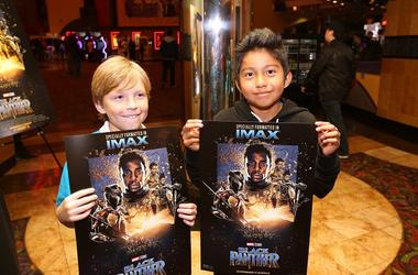 Boys & Girls Club Long Beach members received the celebrity treatment with concessions and more during an advance IMAX screening of 'Black Panther' on February 15, 2018 in Long Beach, California. Hosted by IMAX, Regal Entertainment Group, Walt Disney Pict