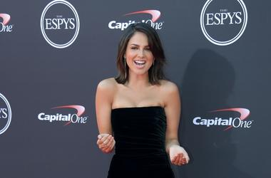 Jul 18, 2018; Los Angeles, CA, USA; Mexican actress Eiza Gonzalez arrives for the 2018 ESPYS at Microsoft Theatre. Mandatory Credit: Kirby Lee-USA TODAY Sports